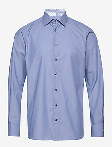 Hairline striped shirt  - Contemporary fit - BLUE