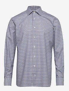 Beige twill shirt - chemises à carreaux - offwhite/brown