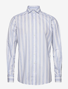 White striped shirt - soft - casual shirts - white