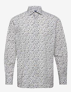 Flourishing shirt - soft - OFFWHITE/BROWN
