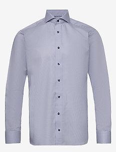 Micro flower shirt - biznesowa - blue