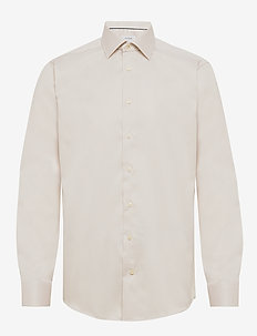 Diamond weave shirt - OFFWHITE/BROWN