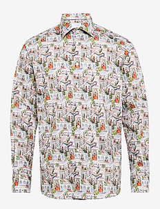 Ragamala print shirt - PINK/RED