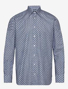 Eton midi medallion print shirt - biznesowa - blue