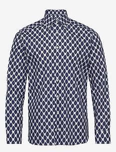 Watercolour dots - casual shirts - white
