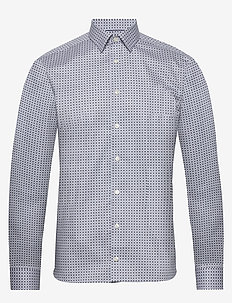 Medallions print shirt - business-paidat - offwhite/brown