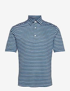 Men's shirt: Casual  Pique - kortärmade pikéer - mid blue