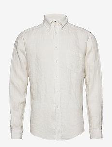White luxe linen shirt - basic shirts - white