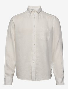 White luxe linen shirt - basic shirts - white