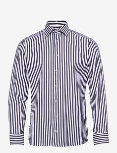 Slim fit  bengal stripe signature twill shirt - biznesowa - blue