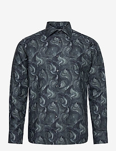 Slim fit paisley drop shirt - avslappede skjorter - green