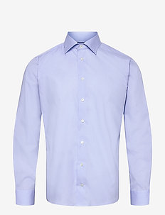 Slim fit Blue Poplin shirt - business shirts - blue