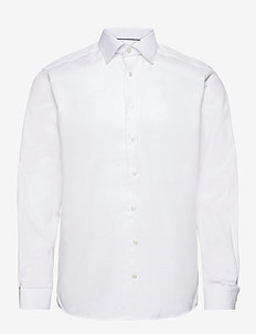 Contemporary fit White Dobby shirt - chemises d'affaires - white