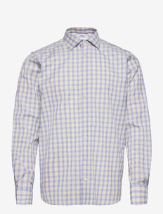 Contemporary fit Blue Signature Twill shirt - business-hemden - offwhite/brown