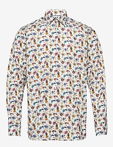Poplin- Contemporary - business shirts - offwhite