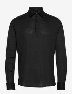 Men's shirt: Casual  Pique - polos à manches longues - black