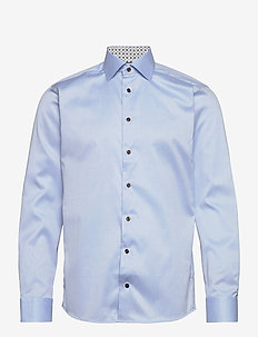 Slim fit Cotton shirt - basic skjorter - blue