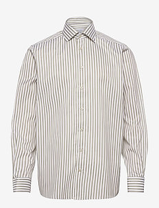 Contemporary fit bengal stripe signature twill shirt - formele overhemden - green