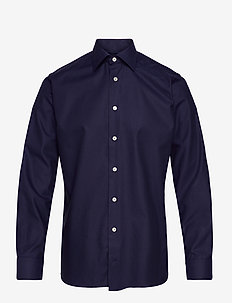 Slim Fit Fine stripes weave shirt - oxford-skjortor - blue