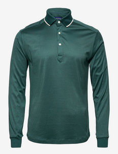Men's shirt: Casual  Jersey - polos à manches longues - dark green