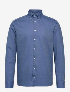 Men's shirt: Casual  Cotton & Tencel Flannel - chemises de lin - light blue