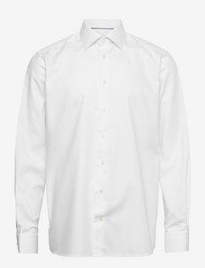 Men's shirt: Business  Twill - chemises de lin - white