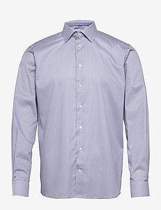 Men's shirt: Business  Signature twill - chemises de lin - mid blue