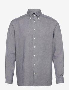 Men's shirt: Casual  Cotton Tencel - chemises de lin - navy blue