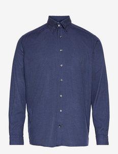 Men's shirt: Casual  Cotton & Tencel - chemises de lin - navy blue