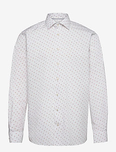 Contemporary Fit Cocktail print shirt - oxford-paidat - yellow/orange