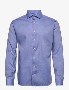 Men's shirt: Business  Lightweight Flannel - chemises de lin - dark blue