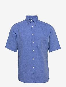 Linen shirt - basic skjorter - blue
