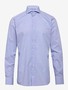 Check Poplin Shirt - checkered shirts - blue