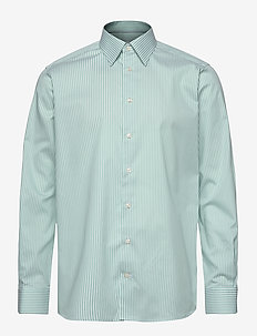 Striped Natural Stretch Shirt - GREEN