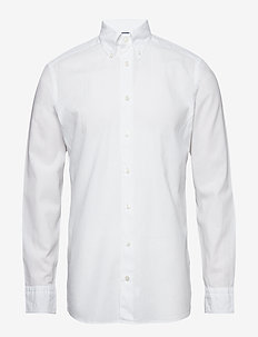 White Cotton & Linen Shirt - WHITE