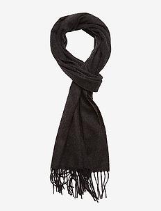 Black Wool Scarf - BLUE