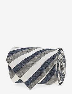 Striped Tie - GREY