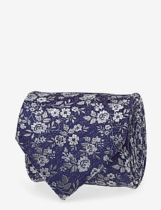 Seed Patterned Silk Tie - BLUE