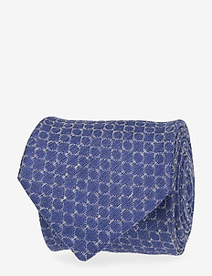Mid Seed Patterned Silk Tie - BLUE
