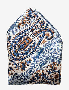 Bold paisley pocket square - poszetka - blue