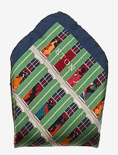 Silk pocket square - näsdukar - green