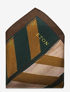 Black Silk Pocket square - lommetørklær - offwhite/brown