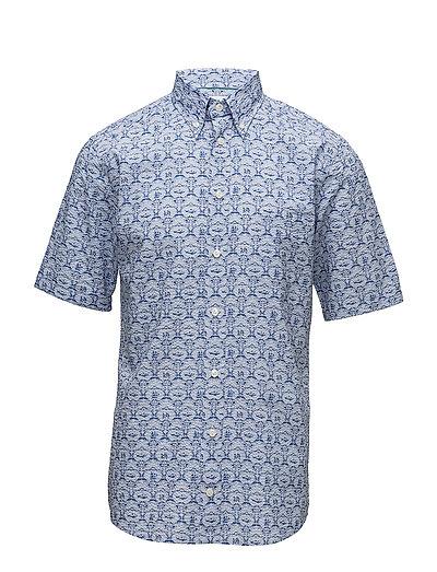 Blue Printed Shirt - BLUE