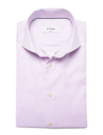 Eton Purple Melange Micro Weave Shirt- Hemden