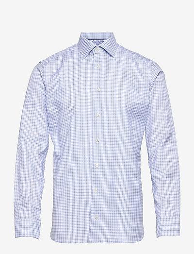 Men's shirt: Business  Signature Twill - rutiga skjortor - light blue