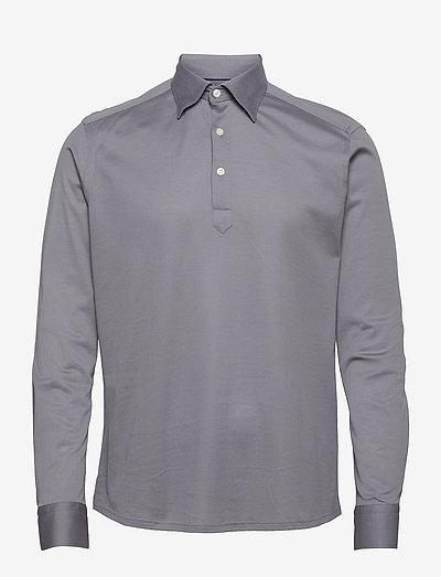 Men's shirt: Casual  Pique - chemises de lin - light grey