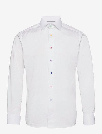 Slim Fit signature twill shirt - multi-colored buttons - oxford-skjorter - white