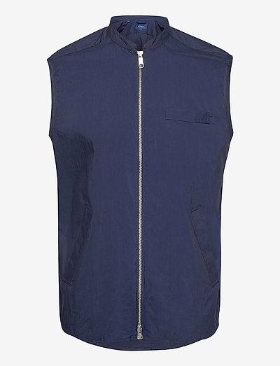 Zip-front Wind vest - liivit - blue