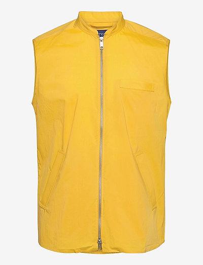 Zip-front Wind vest - liivit - yellow/orange