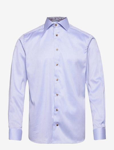 Men's shirt: Business  Twill - chemises de lin - light blue